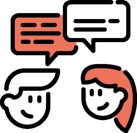 Kommunikation zwischen zwei Personen